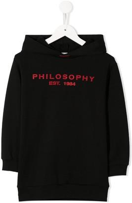 Philosophy Di Lorenzo Serafini Kids Hooded Cotton Dress