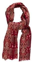Marc by Marc Jacobs Wool Snakeskin Print Scarf