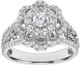 Simply Vera Vera Wang Diamond Flower Engagement Ring in 14k White Gold (1 Carat T.W.)
