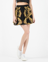 A Question Of Black/Golden Eagles Skirt