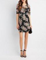 Charlotte Russe Floral Mesh Shift Dress