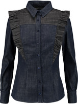 Eight Ruffled denim shirt
