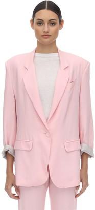 Hebe Studio Lover Over Viscose Blend Jacket