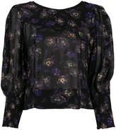 Ganni floral-print blouse