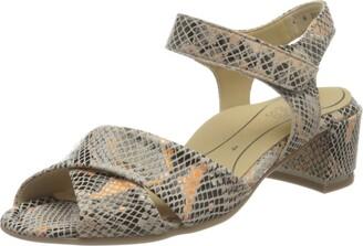 ara Shoes Women's Sandals Gail Multi Snakeprint 5.5US