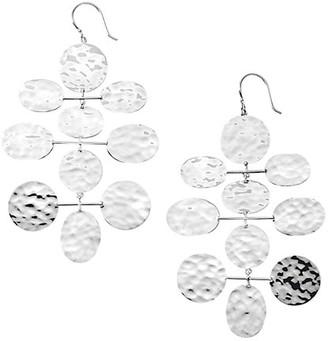 Ippolita Classico Crinkle Sterling Silver Mobile Cascade Earrings