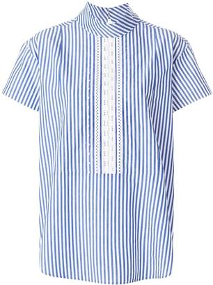 Paul Smith short sleeve striped blouse