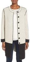 Nic+Zoe Women's 'Bold Block' Reversible Colorblock Knit Coat