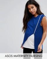 Asos Nursing Side Zip Drape Vest