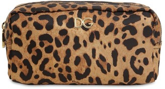 Dolce & Gabbana Leopard Print Nylon Make-Up Bag