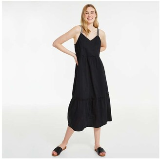 Joe Fresh Women's Tier Maxi Dress, JF Black (Size M)