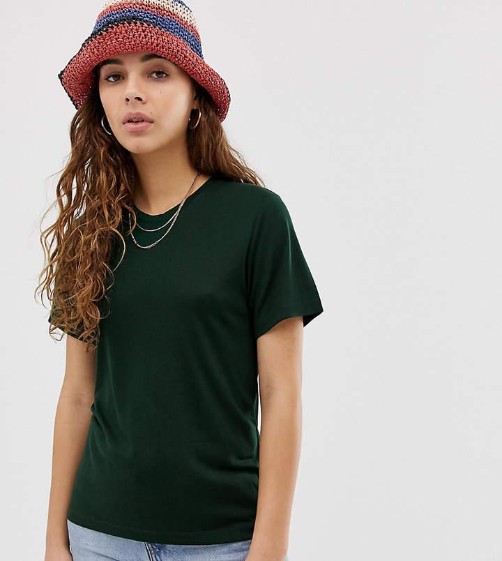 Weekday Grace t-shirt in dark green