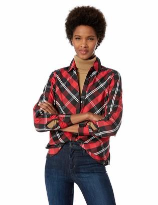 Foxcroft Women's Tina Mackenzie Tartan Plaid Shirt