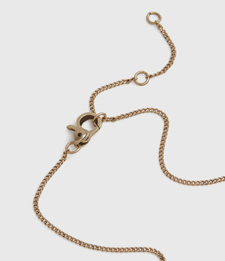 AllSaints Hexbar Gold-Tone Pendant Necklace