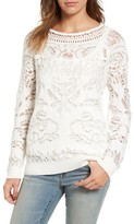 Hinge Women's Drop Stitch Cotton Blend Sweater