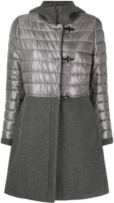Fay Hooded Panelled Midi Coat