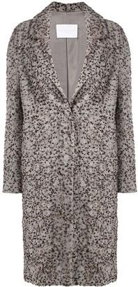 Fabiana Filippi Embroidered Single Breasted Coat