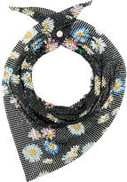 Paco Rabanne floral chainmail neck scarf