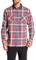 Weatherproof Flannel Burnout & Denim Shirt
