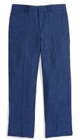 Boy's Jb Jr Flat Front Linen Trousers