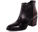 Unique Black Croco Booties