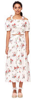 Rebecca Taylor Open Shoulder Marguerite Floral Poplin Top