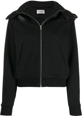 Saint Laurent Panelled Hooded Jacket