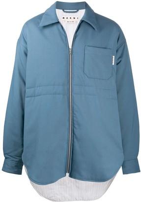 Marni Zip-Up Oversize Shirt Jacket