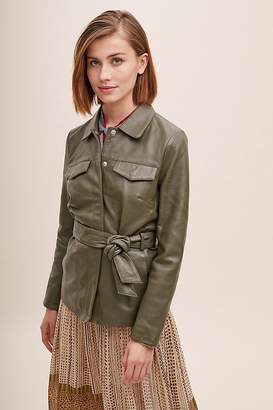 Selected Utility Leather Jacket