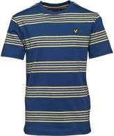 Lyle & Scott Boys Double Stripe T-Shirt True Blue