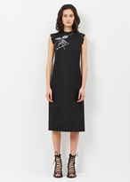 Maison Margiela black cotton gaberdine dress