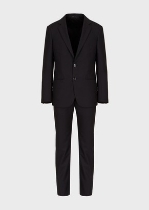 Giorgio Armani Slim-Fit Half Canvas Matte Wool Suit From The Soho Collection