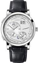 A. Lange & Söhne A. Lange and Sohne Large 1 116.039 18K White Gold Black Leather Silver Dial 41.9mm Mens Watch