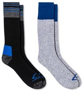 Champion Men's Outdoor Socks 2pk Gray with blue color block asst 6-12