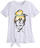 Disney Tinker Bell Fashion Tee with Tie Hem for Juniors