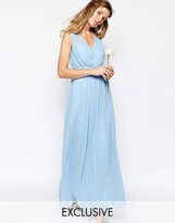 Vila Cinched Waist Maxi Dress