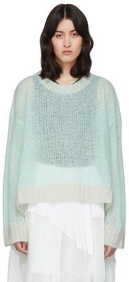 Maison Margiela Green Transparent Crewneck Sweater