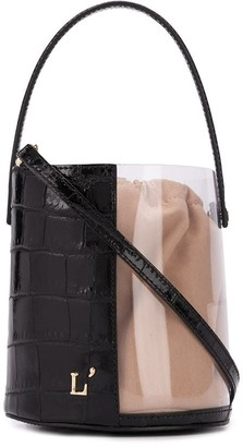 L'Autre Chose Transparent Panel Bucket Bag