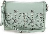 The Sak Pfieffer Tasseled Perforated Demi Cross-Body Bag