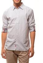 191 Unlimited Men's Light Grey Micro Stripe Shirt