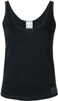 Chanel Pre Owned Sports Line logo tank top