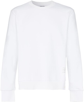 Thom Browne Center-Back Stripe Jersey Pullover