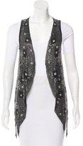 Alice + Olivia Embellished Mesh Vest w/ Tags
