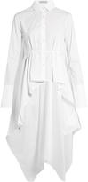 Palmer Harding PALMER/HARDING Extended square-hem cotton-poplin shirt