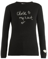 Bella Freud Close To My Heart Cashmere Sweater - Womens - Black