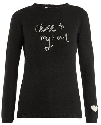 Bella Freud Close To My Heart Cashmere Sweater - Womens - Black