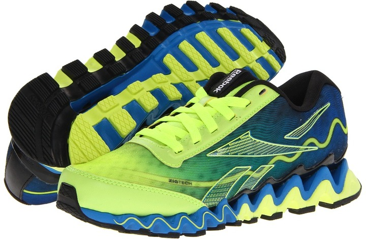 Reebok Kids - Zigultra (Big Kid) (Neon Yellow/Risk Blue/Black) - Footwear