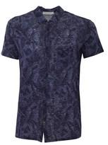 Daniele Fiesoli Men's Blue Cotton Shirt.