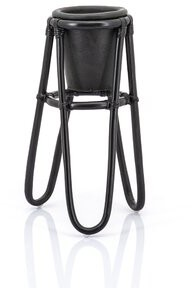 """Thumbnail for your product : By Boo Round Pedestal Plant Stand Color: Black, Size: 21"""" H x 14"""" L x 14"""" D"""