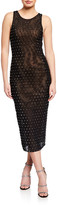 Misha Collection Clarice Jeweled Sleeveless Midi Dress
